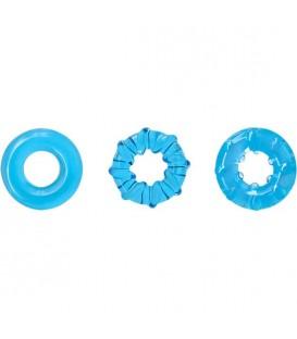 DYNO Kit de Cockrings elásticos para pene y testículos de Renegade