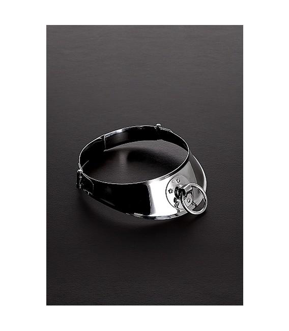 Locking Collar para sumisos de acero con Argolla