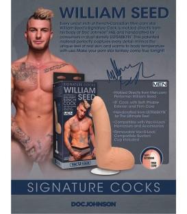 william seed signature cock pene realistico 21 cm con testículos