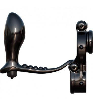 Ironman cockring vibrador con plug anal de silicona