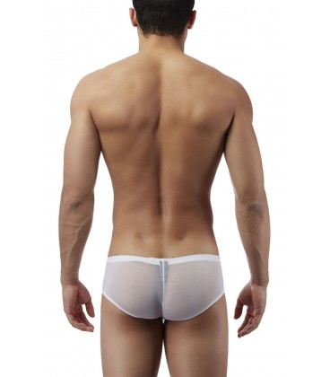 Male Power Bóxer con transparencias blanco para hombre