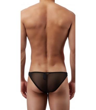 Male Power Bikini Slip hombre negro sexy transparente