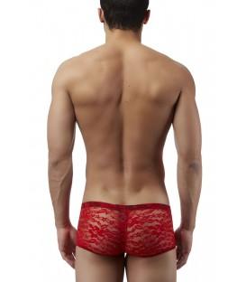 Male Power Boxer hombre de encaje rojo lencería sexy