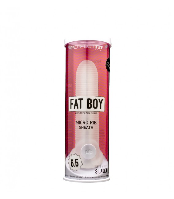 Perfect Fit Fat Boy™ Micro Rib Funda Pene de silicona