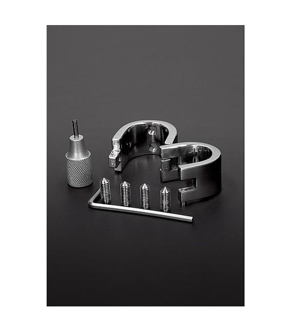 CBT Anillo Ballstretcher para testículos con peso y pinchos dientes de kali de acero