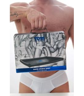 Sábana inflable de vinilo negro para juegos sexuales húmedos de Tom of Finland