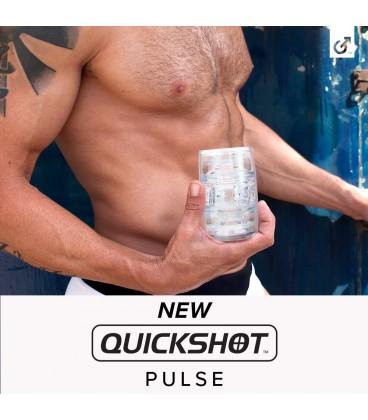 Masturbador masculino Fleshlight Quickshot PULSE transparente