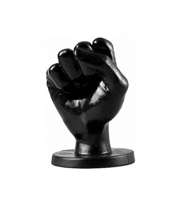 FF Fisting All Black Plug 14 cm mediano vinilo negro
