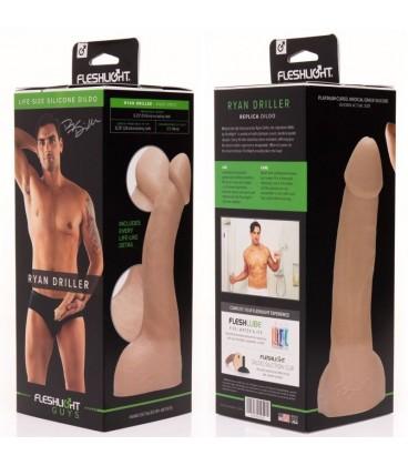Fleshjack Ryan Driller Dildo realístico con testículos silicona