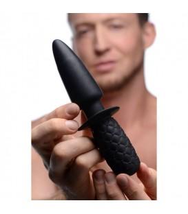 The Plug 10x Vibrador anal con mango de Silicona