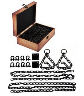 Lodbrock Kit de Cadenas negras de acero para suspensión bondage