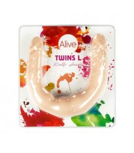 Alive Dildo Doble Silicona Twins Carne 40 cm