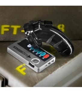E-Stim Cinturón de Castidad Masculino Negro policarbonato de Electroshock