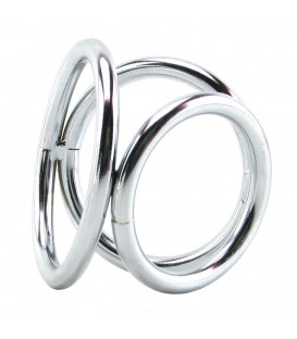 Triad chamber Triple Cock and Ball Ring anillo acero 5 cm