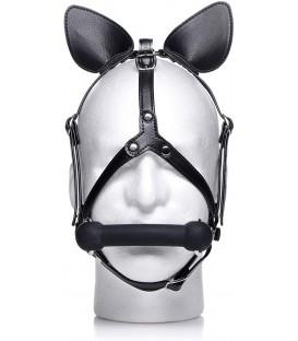 Dark Horse Pony Head Arnés con Mordaza de Silicona