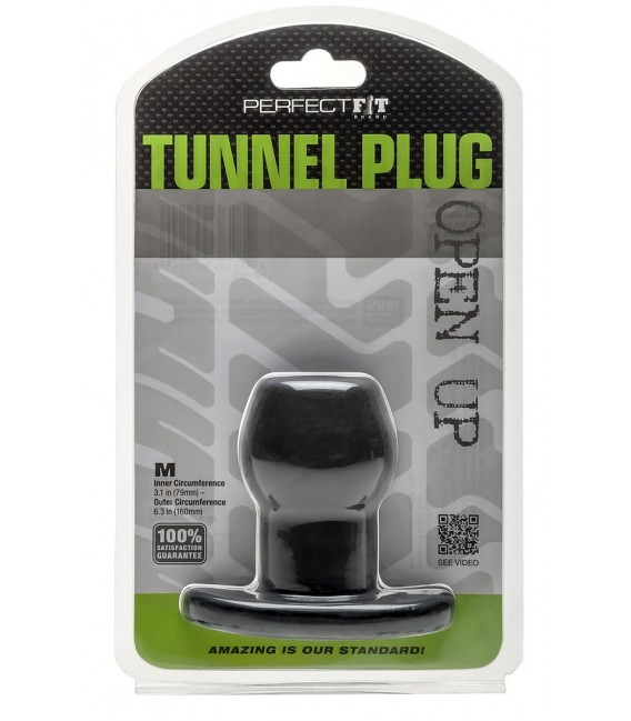 Open Up Plug Tunel Silicona Negro Perfect Fit
