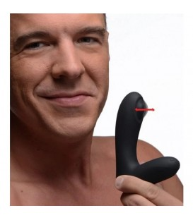 12X Tapping Estimulador de Próstata Silicona Negro XR Brands