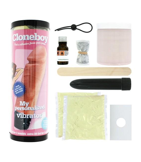 Cloneboy kit clonador de pene de silicona con vibrador