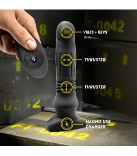 Plug de Silicona con Empuje y Control Remoto