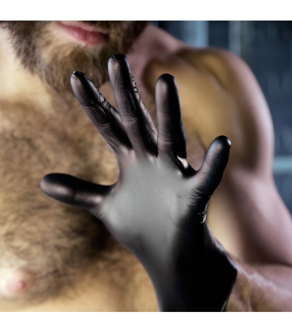 Fist It guantes negros de latex para fisting