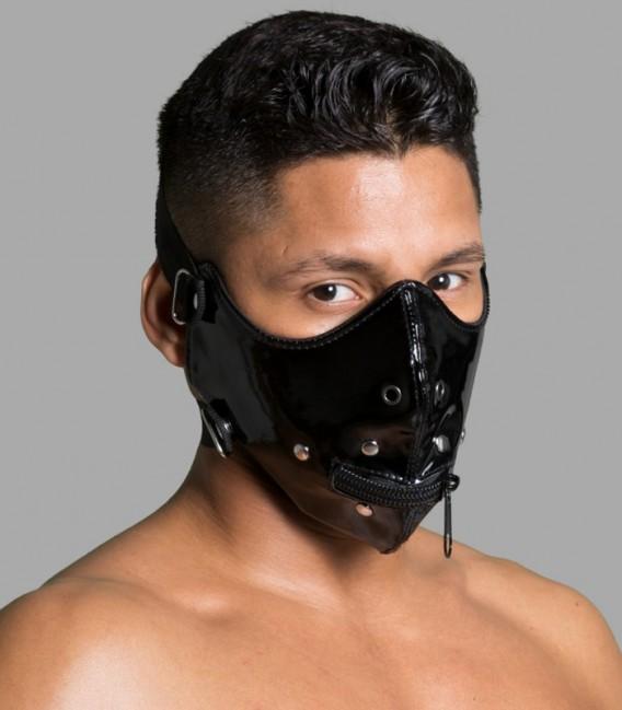 Lektor zipper Máscara Bozal BDSM paras sumisos Master Series