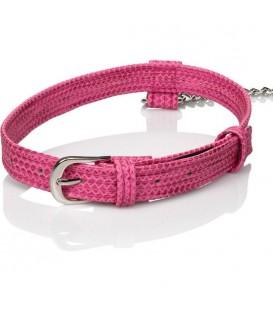 Sissy Collar BDSM Rosa con Cadena Calexotics