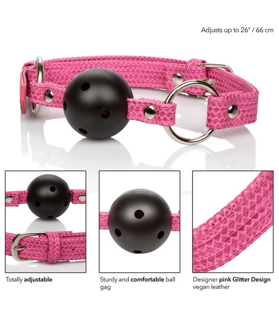 Sissy Mordaza BDSM rosa con Bola Calexotics