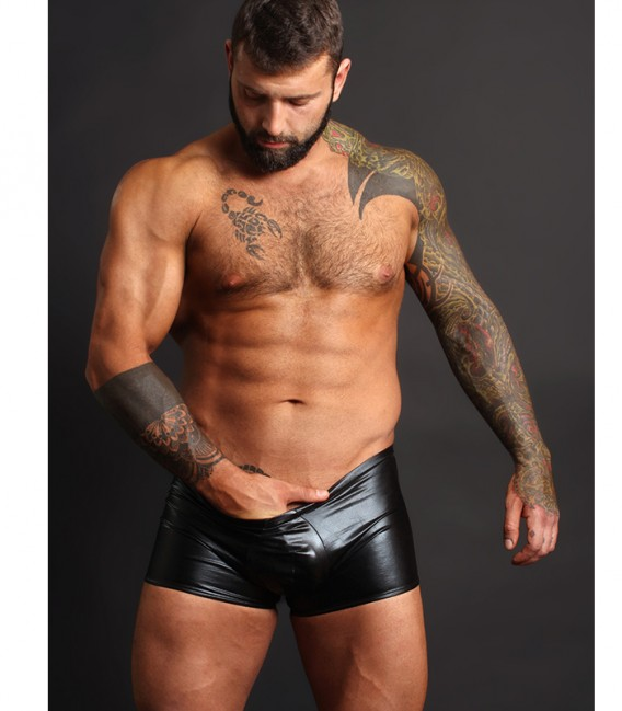 Liquid Onyx Boxer efecto látex Negro Male Power