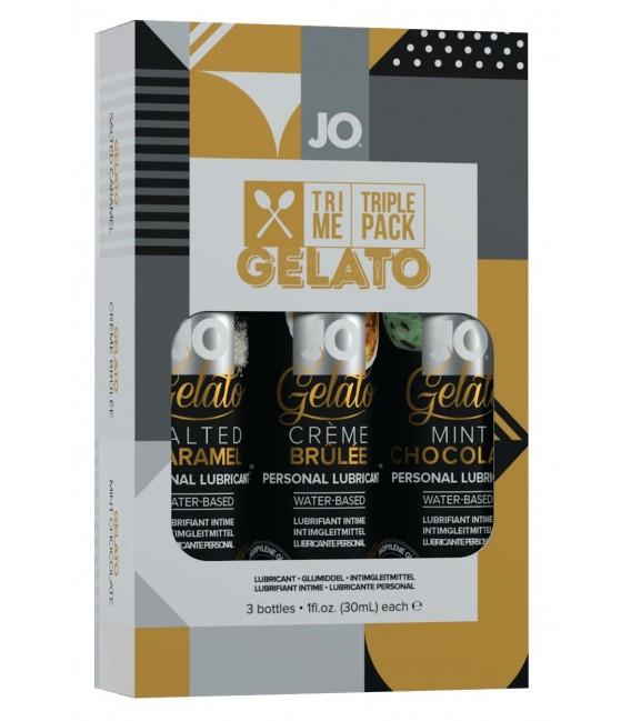 Gelato Tri-Me Pack Lubricantes 3 x 30 ml System JO