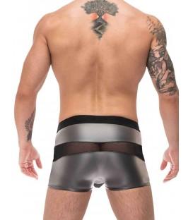 Male Power Iron Clad Boxer metálico con transparencias
