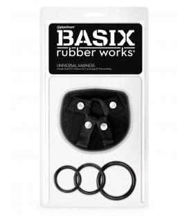 Arnés Universal Unisex para dildos Basix Rubber