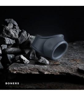 Boners Anillo elástico gris para pene y testículos
