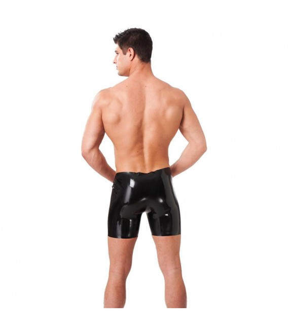 【Latex Play】Pantalones Cortos de Látex Negro