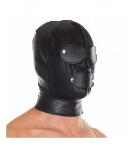 Máscara de Cuero Ajustable para Sumisos