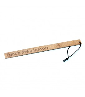 Regla de paleta de bambú