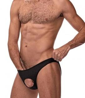 Slip Negro con Abertura para el pene Male Power