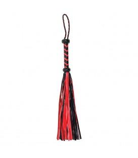 Látigo Flogger Rojo y Negro (50cm)