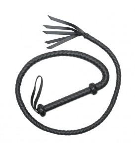 Bondage Play Látigo árabe de cuero negro 155cm