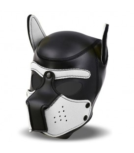 Capucha de neopreno para cachorros Negra/Blanco