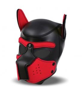 Capucha de neopreno para cachorros Negro/Rojo